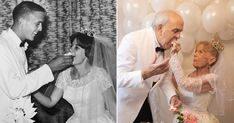 And the bride wore her original dress. 60th Anniversary, Anniversary Photos, Wedding Goals, Wedding Day, Longest Marriage, Photo Recreation, High School Sweethearts, Wedding Pictures, Got Married
