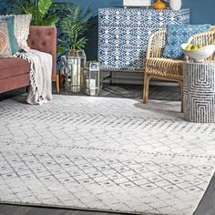 Shop The Curated Nomad Ashbury Moroccan Area Rug - On Sale - Overstock - 20352140 - x Runner - Gray Moroccan Area Rug, Modern Moroccan, Moroccan Decor, Moroccan Style, Light Grey Walls, Area Rugs For Sale, Transitional Decor, Area Rug Sizes, Cool Rugs