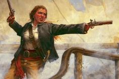 "Not exactly a role-model, but still fascinating: Anne Bonny was a female pirate who fought under the command of Jack ""Calico Jack"" Rackham. She was ruthless and without mercy. She is now one of the most famous pirates in history. Pirate Queen, Pirate Art, Pirate Woman, Pirate Life, Pirate Crafts, Pirate Ships, Space Pirate, Lady Pirate, Pirate Theme"
