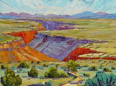 """Summer Morning at the Gorge, 30x40 by Michelle Chrisman Oil ~ 30"""" x 40"""""""