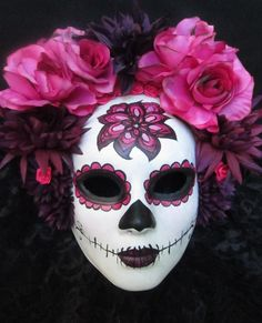Sale  Sangria Mask Day of the Dead by effigymasks on Etsy