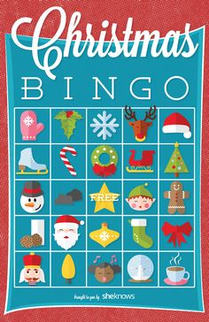 Christmas bingo game printable with three twists on the classic rules
