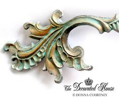 The Decorated House: How To Create Beautiful Turquoise Patina - Secret Tutorial - French Drawer Pulls