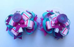 Lollipop Hair Bows by ScissorhandsCrafting on Etsy, $15.75