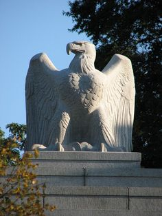 Stone eagle at the gates of Arlington National Cemetery