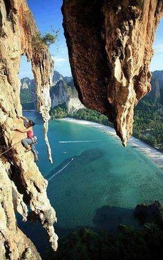 Krabi Thialand, That rock climbing would be amazing! - Then swim in the water