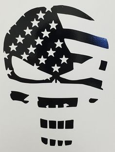 Amazon.com: CMI280 Skull Punisher Flag Decal Sticker | Black Vinyl: Automotive