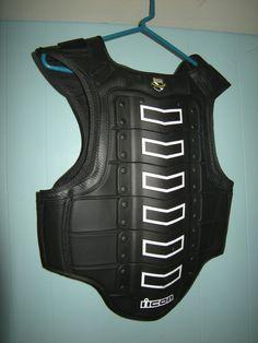 Icon Field Armor Black Vest, Size Regular, Adjustable Motorcycle Rider #Icon