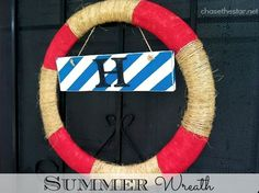 Easy Nautical Summer Wreath
