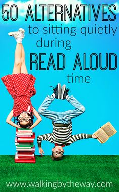 Read aloud time is vital but can be a chore for children who love to move. Here are 50 activity ideas for crafting, building, eating, and moving--keeping your child busy while listening to your read aloud.