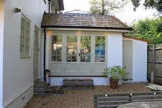 glass kitchen extension thatched cottage - Google Search
