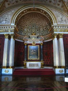 Peter the Great's Small Throne Room. Alexander Pushkin, Inside Castles, Peter The Great, Winter Palace, Throne Room, Imperial Russia, Petersburg Russia, History Museum, Ancient History