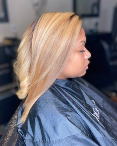 Beautiful blonde hair by Influance Hair Care products create gorgeous styles and keep the hair healthy! Register online today for your exclusive access. Blonde Hair Black Girls, Honey Blonde Hair Color, Blonde Color, Blonde Highlights, Pressed Natural Hair, Dyed Natural Hair, Natural Hair Styles, Black Kids Braids Hairstyles, Cool Hairstyles