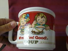 Westwood China Dinnerware Campbell Soup Kids Handled soup Cup(s)