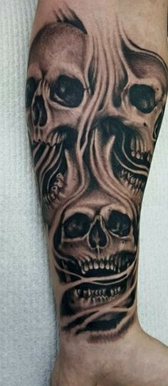 43 Best Skull Half Sleeve Tattoo Images In 2019 Awesome Tattoos