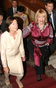 Ex First Lady of Ukraine in beautiful national embroidery, Ukraine, from Iryna… Polish Embroidery, Embroidery Patterns, Ukraine, Ethnic, Culture, Costumes, Celebrities, Lady, People