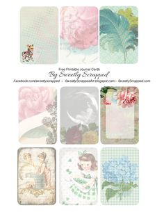 Sweetly Scrapped: *Free* Printable Journal Cards