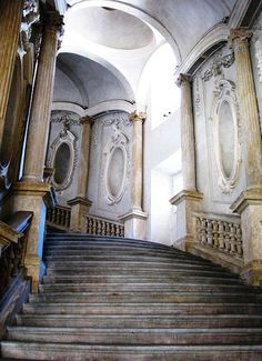 The Staircase, Palazzo Carignano, Torino, Italy - architecture - Italy Architecture, Beautiful Architecture, Architecture Details, Installation Architecture, Baroque Architecture, Building Architecture, Interior Architecture, Abandoned Mansions, Abandoned Places