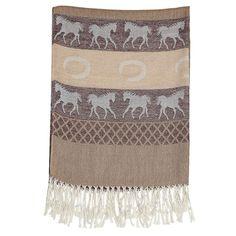 Equestrian Fashion Pashmina Scarf Brown