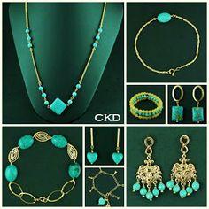 Turquesas!! www.ckdsemijoias.com.br