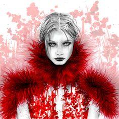 Alexander McQueen Fall Ready-to wear 2015 Fashion Illustration by Alexandra Clarke