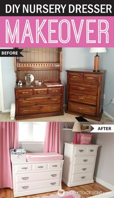#Nursery Furniture Makeover with Before and After #tutorial @Valspar_Paint #DIY | spotofteadesigns.com