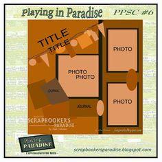 Scrapbooker's Paradise Blog: Sketch Challenge for October