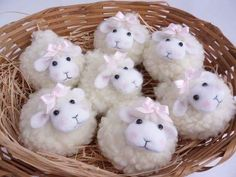 Easter Crafts for Adults to make and sell. Have an Easter craft fair or a Craft show coming up and need ideas for Easter crafts to sell? Or looking for some Easter gifts to make for adults? Kids Crafts, Sheep Crafts, Bunny Crafts, Cute Crafts, Yarn Crafts, Felt Crafts, Easter Crafts, Diy And Crafts, Christmas Crafts