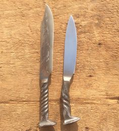 These Hand Forged Rail Road Spike Knives by TimsSatchels on Etsy are my husbands own work. He does amazing things.