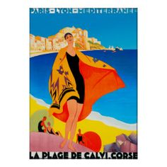 vintage french travel posters cote azure | French Riviera Posters & Prints