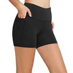"Discounted BALEAF Women's 5"" High Waist Workout Yoga Running Compression Exercise Volleyball Shorts Side Pockets Black S #BALEAFWomen's5""HighWaistWorkoutYogaRunningCompressionExerciseVolleyballShortsSidePocketsBlackS Best Mens Water Shoes, Water Sport Shoes, Sports Shoes, Yoga Shorts, Workout Shorts, Crossfit Shorts, Volleyball Shorts, Surf Shorts, Women's Shorts"