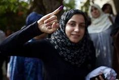 A young voter shows with pride proof she took part in Egypt's first widely contested presidential election, May … Presidential Polls, Muslim Brotherhood, Event Calendar, Victorious, Egyptian, Multimedia, Middle East, Ph, Image