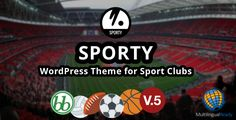 Sporty is a responsive wordpress sport club theme. It's suitable for soccer, football, american football, basketball, baseball, rugby, volleyball, ice hockey, handball, cricket etc sport clubs. ...