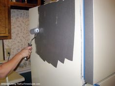 Painting a stainless steel finish on older appliances - Thomas' liquid stainless steel paint