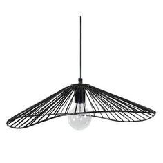 LADY Lustre - suspension filaire 50x44x13 cm noire E27 40W