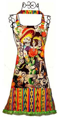 Aztec Skeletons apron... love it!