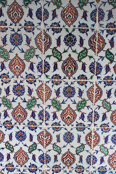 Iznik Tiles from a Sultan's Tomb (Selim II's or Murat III's)