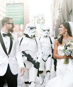 Green Wedding Shoes - Star Wars Wedding | A glamorous Star Wars-inspired wedding. #refinery29 http://www.refinery29.com/green-wedding-shoes/2