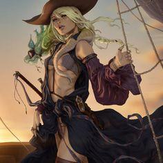 Pirate Art, Pirate Woman, Pirate Life, Fantasy Couples, Fantasy Women, Fantasy Girl, Space Fantasy, High Fantasy, Character Portraits