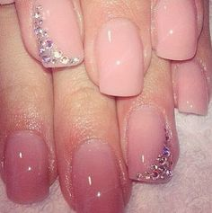 This would be super cute with french tips.