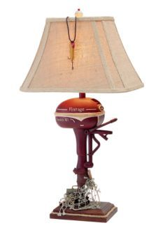 vintage verandah table lamps fishing decor flying fish rod table lamp product 6877
