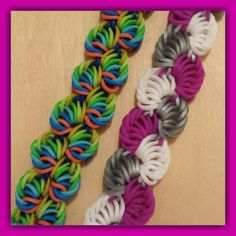"New "" Sorbet Delight "" Hook Only Rainbow Loom Bracelet/ How To Tutorial. Would definitely look pretty using the rounded silicone bands. So pretty! Rainbow Loom Tutorials, Rainbow Loom Patterns, Rainbow Loom Creations, Loom Bands Designs, Loom Band Patterns, Rainbow Loom Bands, Rainbow Loom Charms, Easy Rainbow Loom Bracelets, Rubber Band Bracelet"