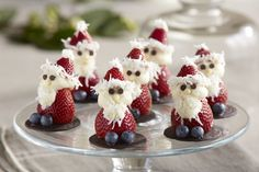 It doesn't get much sweeter than these adorable strawberry Santas made with cream cheese frosting. They're sure to put a smile on ev