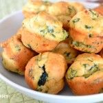Mini Spinach and Feta Muffins  #babyledweaning #blw #fingerfoods