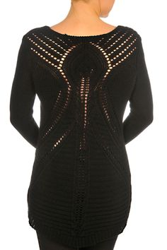 F3023025-Black Back Fall Collections, Back To Black, Sweaters, Tops, Fashion, Moda, La Mode, Pullover, Shell Tops