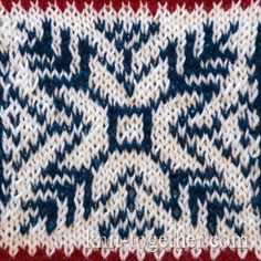 Norwegian Jacquard Pattern 2, knitting pattern chart, Jacquard Knitting Patterns
