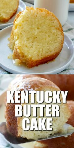 Butter Cake is a homemade moist butter cake that is topped with a buttered rum sauce. The ultimate southern cake recipe!Kentucky Butter Cake is a homemade moist butter cake that is topped with a buttered rum sauce. The ultimate southern cake recipe! Pound Cake Recipes, Easy Cake Recipes, Baking Recipes, Angle Food Cake Recipes, Steak Recipes, Baking Ideas, Kentucky Butter Cake, Bunt Cakes, Tea Cakes