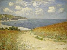 Path in the Wheat at Pourville, 1882 (oil on canvas) by Claude Monet (1840-1926)