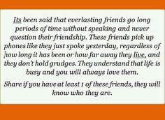 Longtime friendships.
