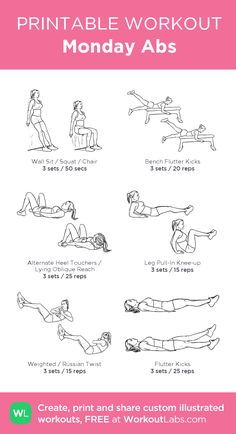 planet fitness workout  illustrated exercise plan created